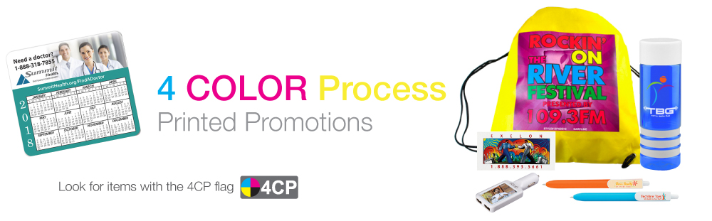4 Color Process Imprinted Promotions