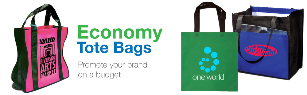 Promotional custom logo printed cheap economy bags