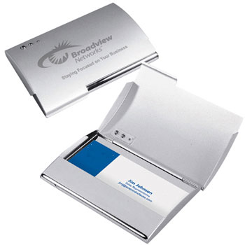 Promotional Curve Business Card Holder