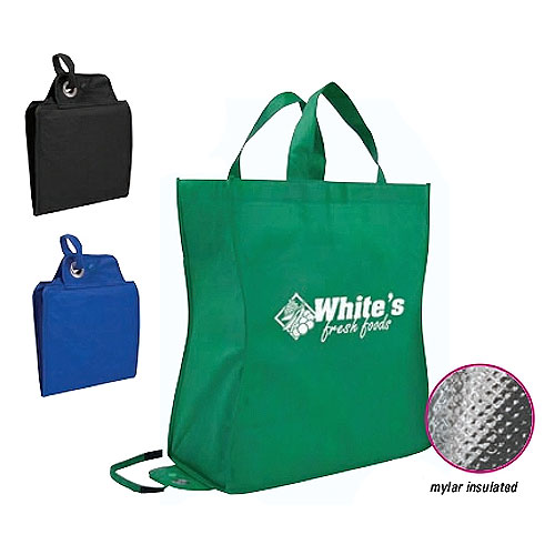 Promotional Poly Pro Shop-N-Fold Cold Tote