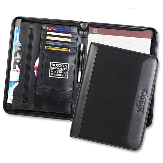 Promotional Vineyard Zip Folio