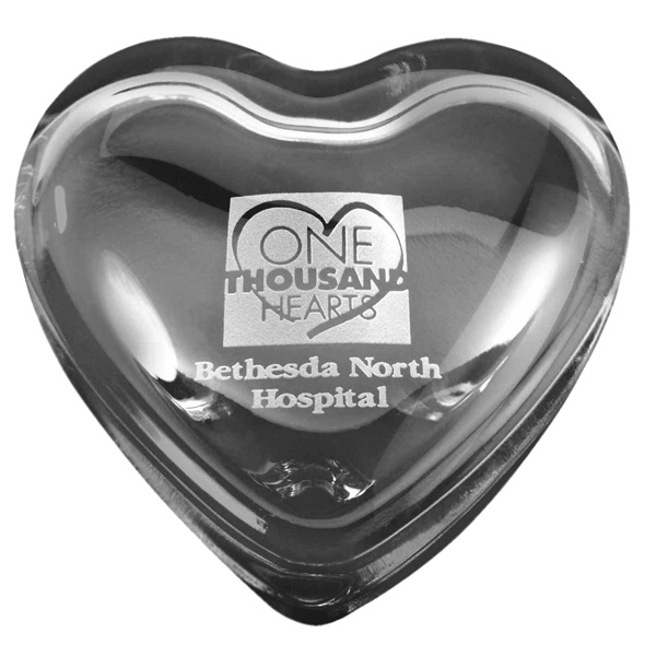 Promotional Heart Paperweight