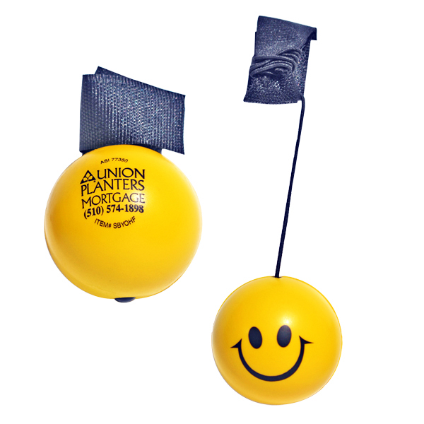 Promotional Happy Face Yo Yo Stress Ball
