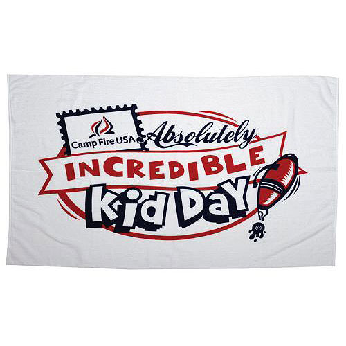 Promotional Terry Velour Hemmed Beach Towel