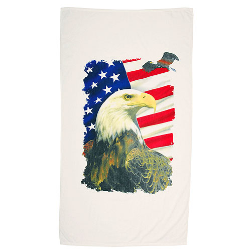 Promotional Terry Velour Hemmed Beach Towel (Large)