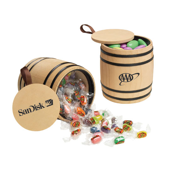 Promotional Jelly Belly® Wooden Barrel