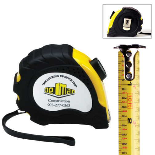 Promotional Retractable Tape Measure - 10 Ft.