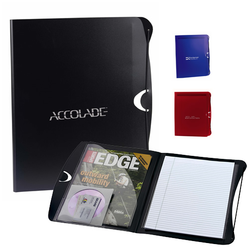 Promotional PolyPro Padfolio/Business Card/CD Holder