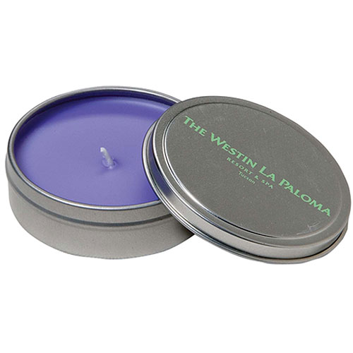 Promotional Tin Travel Candle 3 oz