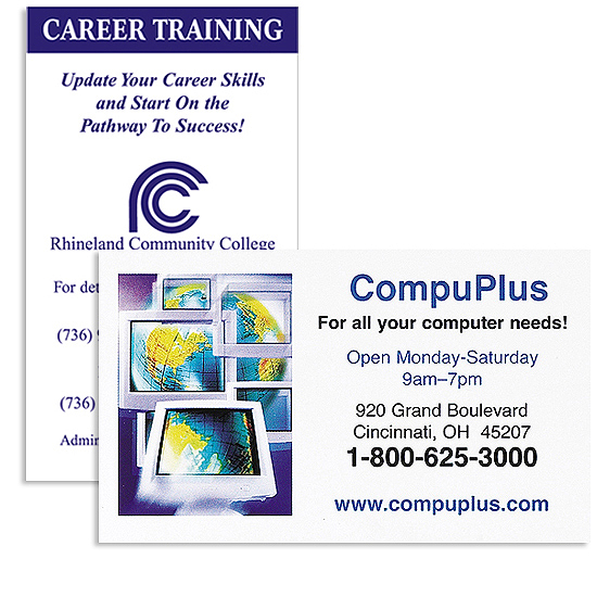 Promotional Jumbo Business Card Magnet