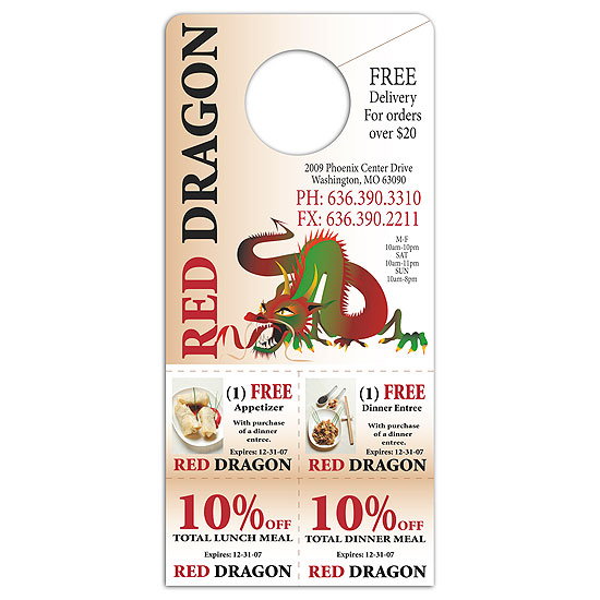 Promotional Coupon Door Hanger