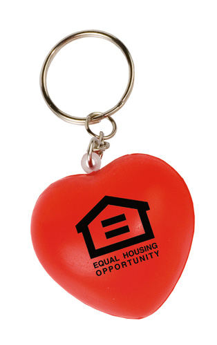 Promotional Mini Heart Stress Reliever Key Tag