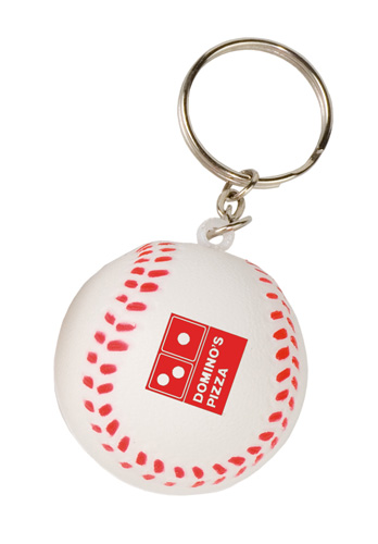 Promotional Mini Baseball Stress Reliever Key Tag