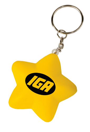 Promotional Mini Star Stress Reliever Key Tag