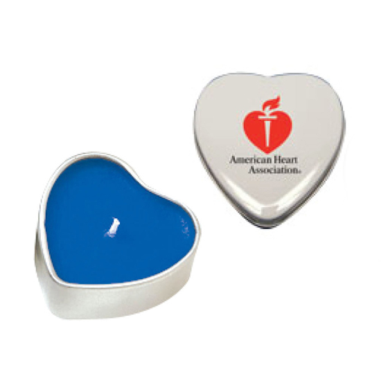 Promotional Heart Soy Candle Tin