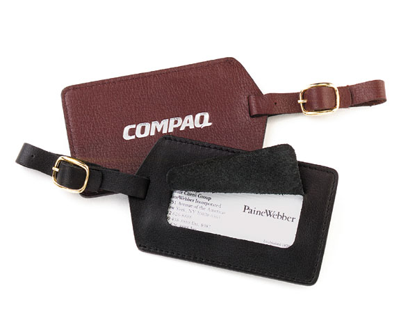 Promotional Leather Luggage ID Tag