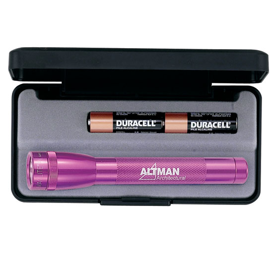 Promotional Mini Mag-Lite Flashlite-Pink