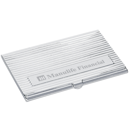 Promotional Deluxe Business Card Holder