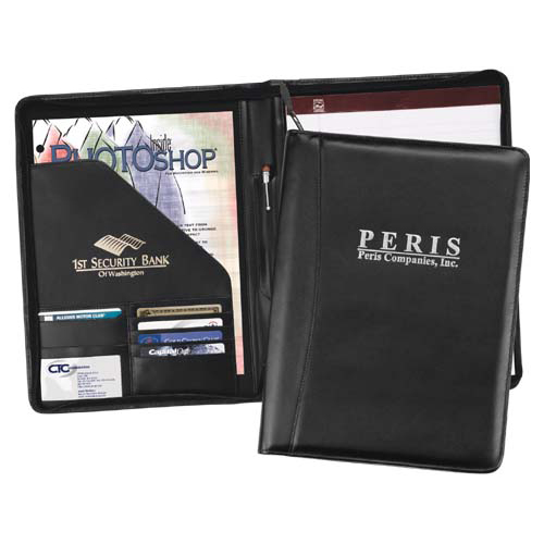Promotional Ambassador Zippered Portfolio