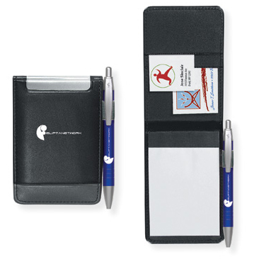 Promotional K Street Jotter with BIC Clic Stic Mini pen