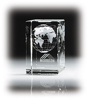 Promotional Dimensional Globe Cube