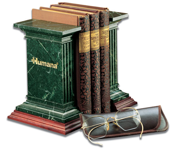 Promotional Marble Fluted Bookends