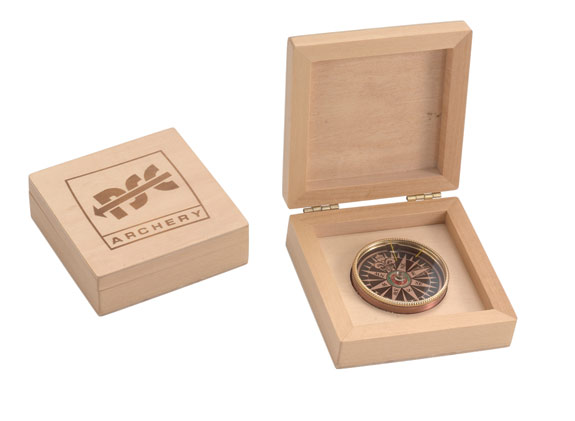 Promotional Wood Box Compass