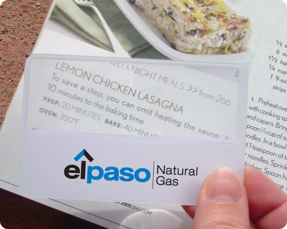 Promotional Card Magnifier