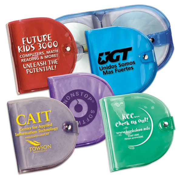 Promotional Clear Color Cd Holders