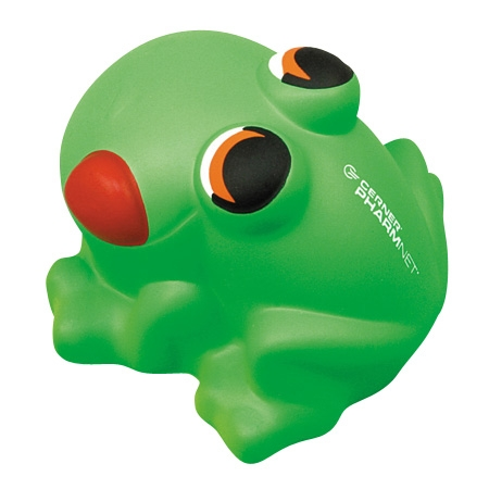 Promotional Cartoon Frog Stress Ball