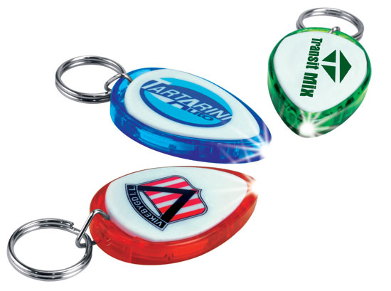 Promotional Oval Shape Flashlight Key Ring