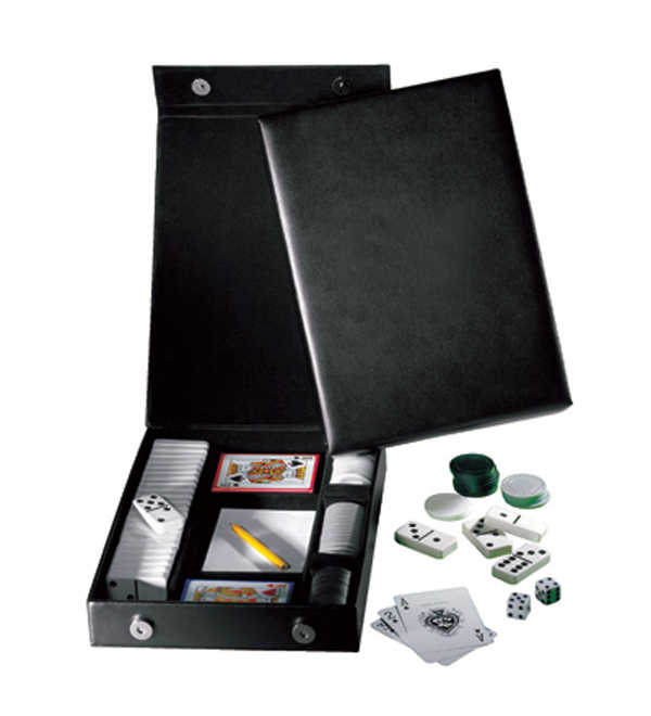 Promotional Leather Casino Gift Set
