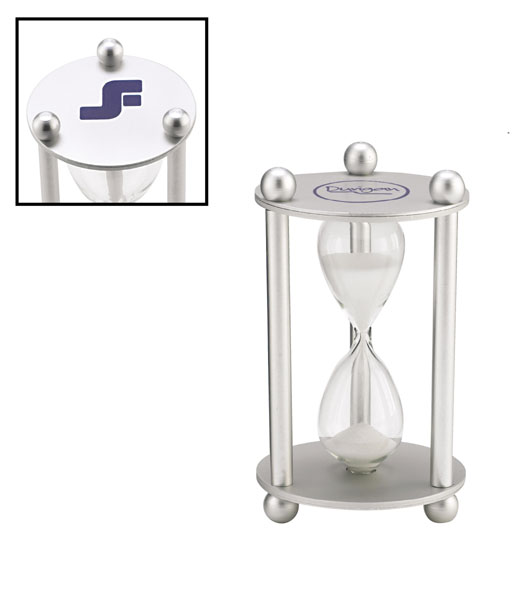Promotional 3 Minute Sand Timer-Screen Print