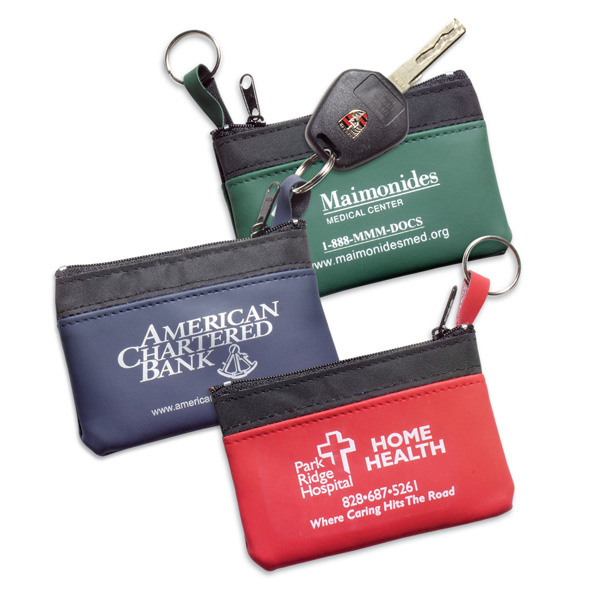 Promotional Coin & Key Zippered Pouch