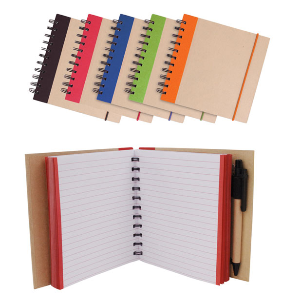 Promotional Kraft Notepad with Pen