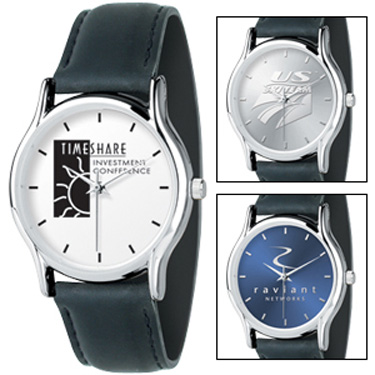 Promotional Silver Oval Watch - Men's
