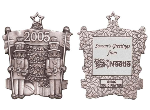 Pewter Nutcrackers Ornaments
