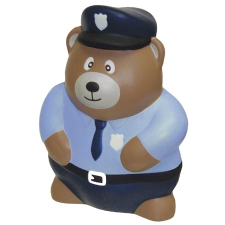 Promotional Police Bear Stress Ball