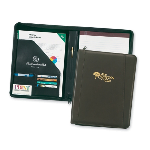 Promotional Corporate Elite Zippered Portfolio