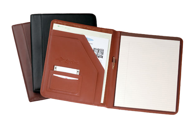 Promotional Napa Leather Deluxe Writing Pad Holder
