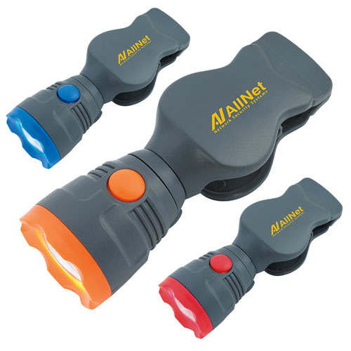 Promotional Pivot Clip Flashlight