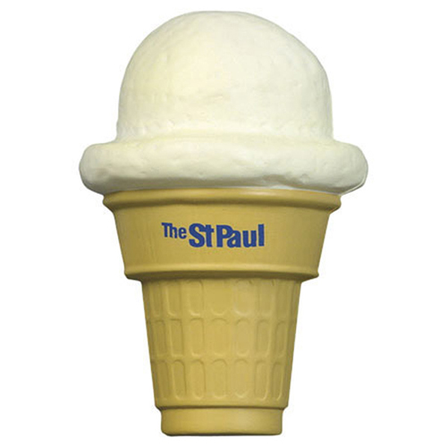 Promotional Ice Cream Cone Stress Ball