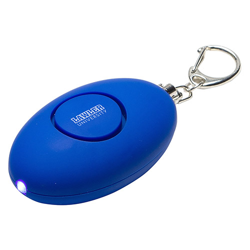 Promotional Soft Touch Led Light & Alarm Key Chain