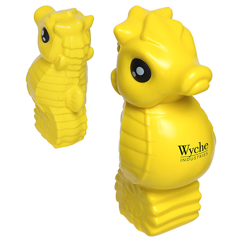 Promotional Yellow Seahorse Stress Ball