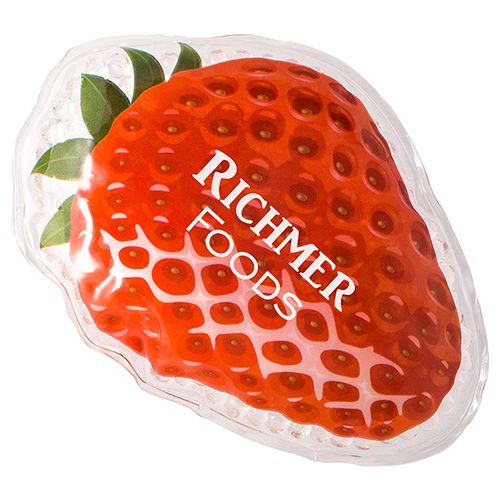 Promotional Strawberry Art Hol/Cold Packs