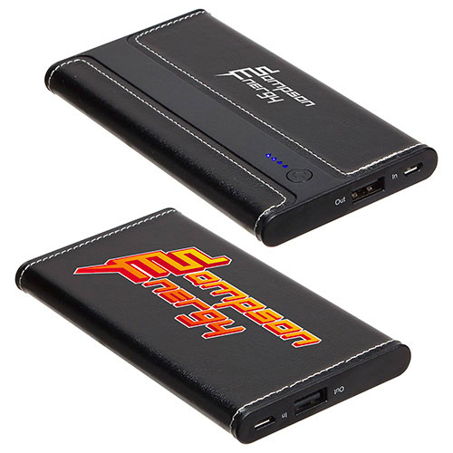 Promotional Envoy Leather Power Bank