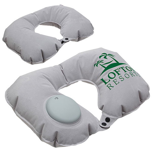 Promotional Air Pump Inflatable Neck Pillow