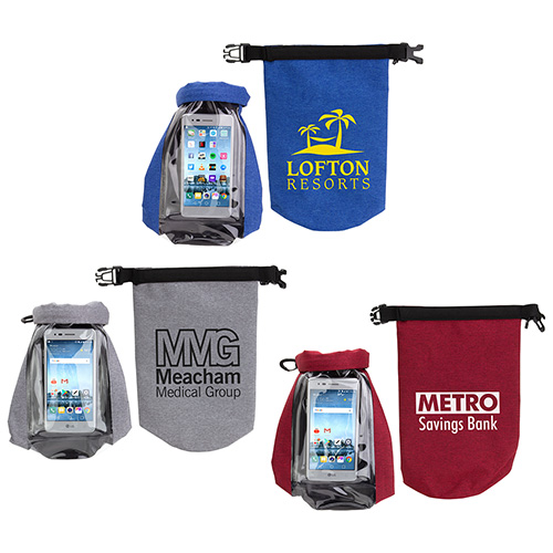 Promotional Waterproof Gear Bag with Touch-Thru Phone Pocket