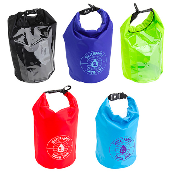 Promotional Waterproof Gear Bag with Touch-Thru Pouch