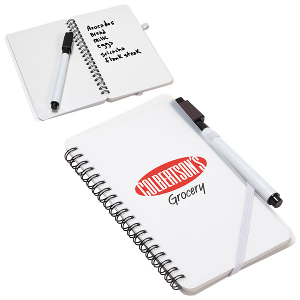 Promotional Write and Wipe Erasable Jotter Notebook